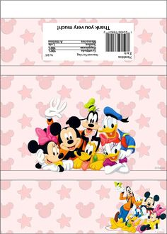 minnie mouse candy bar wrapper