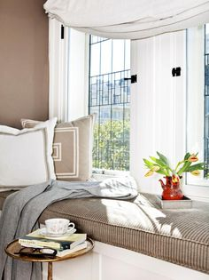 Cozy Window Seat http://www.hgtv.com