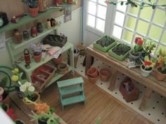 doll house potting shed