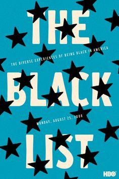 HBO The Black List Triptych by Zipeng Zhu, via Behance