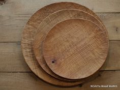 M.SAITo Woodworks  handcarved wooden plates - 齋藤正明  http://www.msaito.net