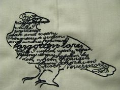 Edgar Allan Poe Raven with text