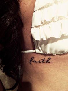 faith tattoo. love it! font, faith tattoo, script