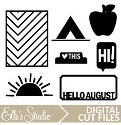 August Digital Cut File by Elle's Studio
