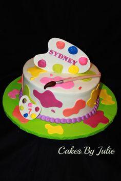 Painters Palette Birthday cake.