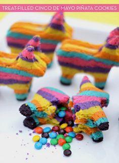 piñata cookies for cinco de mayo!