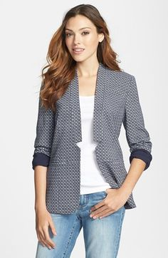 Halogen® Twill Jacket (Regular & Petite) | Nordstrom