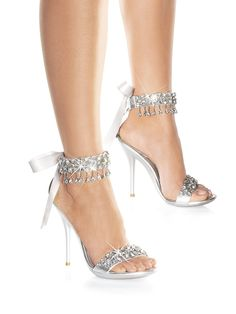 Rhinestone Teardrop Sandal - These would be perfect Wedding day heels
