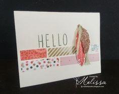 Stampin' Up! Fine Feathers by Melissa Davies @ rubberfunatics