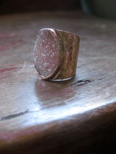Gold Wrapped Druzy Ring by lieslns on Etsy, $65.00