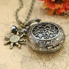 Vintage star pocket watch necklace with antique by luckyvicky