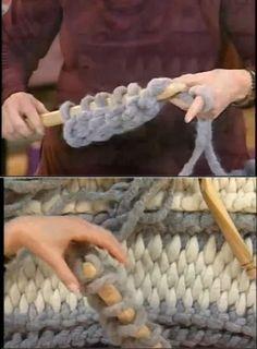 Tunisian hook, big size