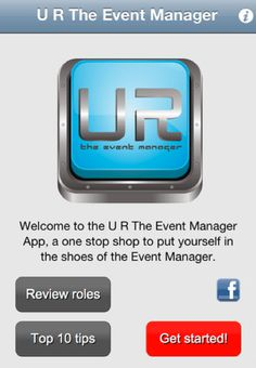 U R The Event Manager is an amazing event management application for iPhones and iPads. It gives you the opportunity to put yourself in the shoes as the Event Manager. It makes planning an event much easier that you could ever imagine.