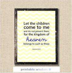 Bible verse print Nursery Children's room by PrintableWisdom, $5.00