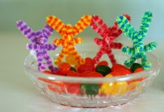 Pipe cleaner bunnies