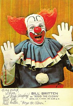 Bozo the clown.  Crossed the Detroit Tunnel to see his show in Windsor. Probably was fun but I was terrified of clowns.