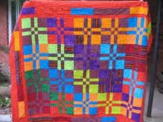 Disappearing nine-patch quilt