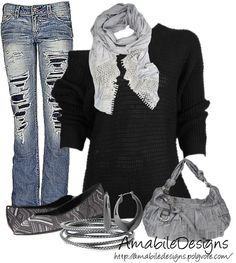 """Relaxed Night Out with the Girls"" by amabiledesigns on Polyvore"