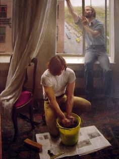 John Koch (American, 1975) | The Window Washers | Wichita Art Museum