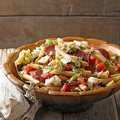 Pasta Caprese From Better Homes and Gardens, ideas and improvement projects for your home and garden plus recipes and entertaining ideas.