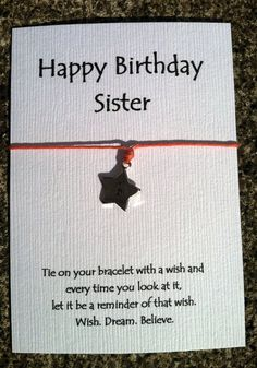 Personalized+Happy+Birthday+Sister+Bracelet+on+by+HooMeDesigns,+$5.00 birthday sister, happy birthdays, bracelets, sister bracelet, happi birthday