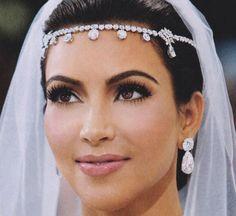 color design, kim kardashian, bronzer, headpiec, brows, bridal makeup, dior, blushes, wedding makeup