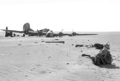 "The ""Lady Be Good"" B-24D Liberator bomber found in the Libyan desert in 1958 where it crashed in 1943"