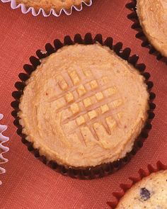 Peanut Butter Cookie Cupcakes:  With their classic cross-hatched tops, these cupcakes masquerade as cookies.