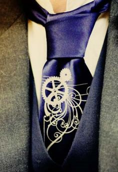 Steampunk tie - best idea ever for getting a little steampunk into everyday wear.