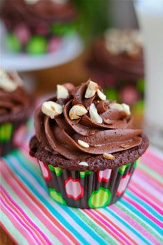 Double Chocolate Cupcakes with Dark Chocolate Buttercream