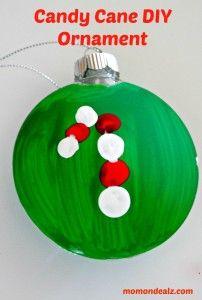 Candy Cane Craft DIY Ornament