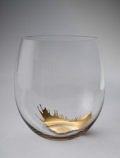 Glass with gold leaf