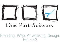 The One Part Scissors Logo