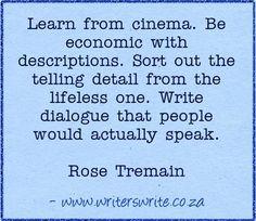 Quotable - Rose Tremain - Writers Write