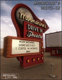 Moonshine's drive in movie theater