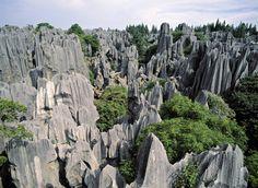 El bosque de piedra de Shilin, China