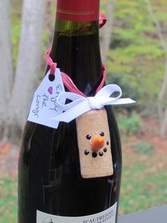 wine cork snowman or
