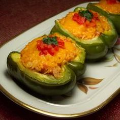 Stuffed Peppers (Vegetarian and Vegan without the cheese)