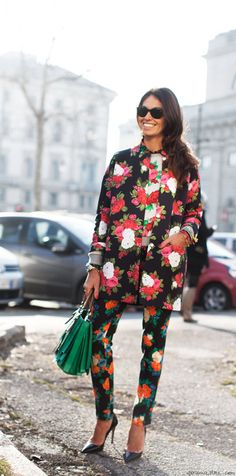 Fashion Month is the best time to test out prints on prints!
