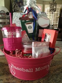 Great silent auction gift basket for all the baseball moms out there!