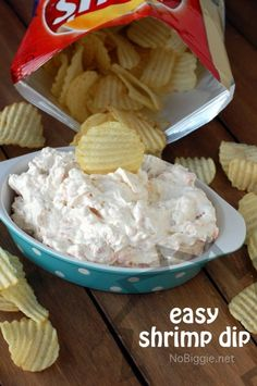 Shrimp dip (easy appetizer).