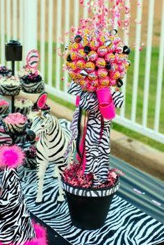 Pink & Striped Zebra Party Theme. We, have animal print linen. Www.visionary weddings.com.au