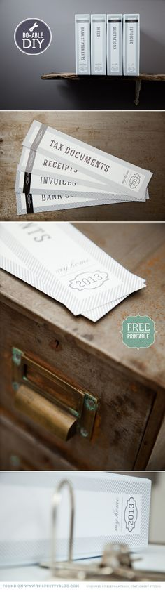 Free Printable: Pretty labels for your documents! From The Pretty Blog