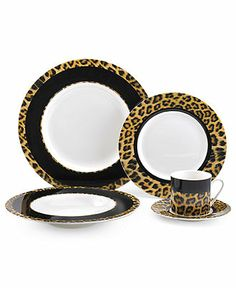 Mikasa Dinnerware, Call of the Wild Cheetah 5-Piece Place Setting (8)