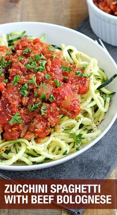 You have to try this zucchini spaghetti, it's delicious!