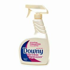 I'm not particularly skilled with an iron - this is a nice substitute. I carry a travel size version in my suitcase. product, wrinkl releas, idea, clean, homemad wrinkl, homemad downi, downi wrinkl, diy, iron