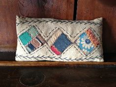 Handcrafted Primitive Rag Stuffed Pillow