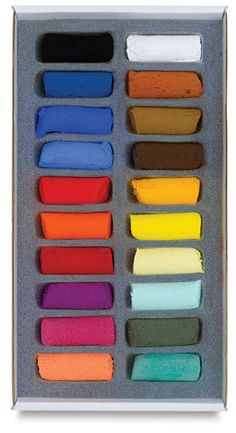 Sennelier Soft Pastel Sets - BLICK art materials - Set of 20 assorted half sticks