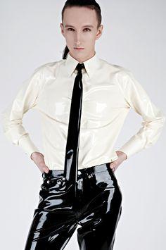 Latex shirt and tie http://www.erolatex.com fashion latex, fetish wear, latex cloth, cloth idea, latex fashion, shinni secret, men latex, shi shinni