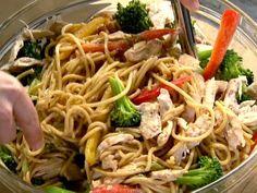Ina Garten's Szechuan Noodles with Chicken and Broccoli